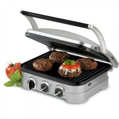 It is No.1 bestseller among electric griddles in Amazon. There are so many things that Cuisinart GR-4N 5-in-1 Griddler can do. It has the unique folding feature and one set of reversible plates that provide the options of contact grill, Panini press, full grill, full griddle, or half grill/half griddle without much effort.