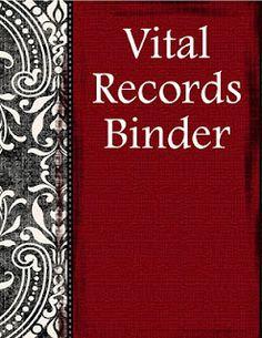 Vital Records/Emergency Preparedness