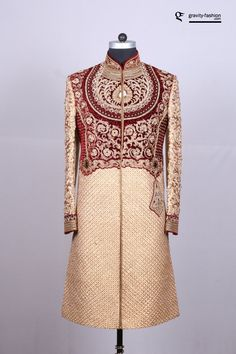 Are you looking for latest designs of sherwani for Groom? Introducing shervani designs online for weddings. Browse through our exclusive attire for Asian groom. Groomsmen Wedding Outfits, Wedding Dress Men, Wedding Men, Wedding Suits, Wedding Dreams, Indian Wedding Clothes For Men, Indian Wedding Outfits, Sherwani Groom, Indian Groom Wear
