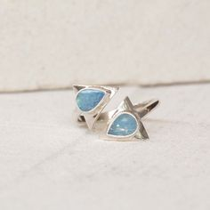 Opal Ring, Midi Ring, Arrow Ring, Silver Ring, Blue Opal Ring, Boho Ring, Adjustable Gypsy Ring