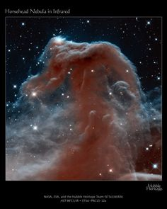Horsehead nebula 1500 light-years away in Orion.