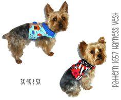 Dog Harness Vest Pattern for the Larger Dog 1657 * 3X 4X & 5X * Dog Clothes Pattern * Dog Vest Pattern * Dog Shirt * Dog Harness Pattern