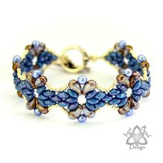 This is a tutorial pattern in PDF format. You are not purchasing the Juliet Bracelet with this listing. Zoliduo beads are new, teardrop-shaped beads with parallel holes, slightly flat-backed. There are right and left versions, enabling you to create wonderful shapes and dimensions to