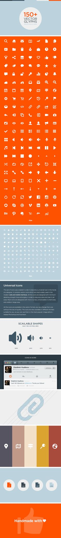 Unicons - Universal vector icons for mobile and web by Sergey Shmidt, via Behance