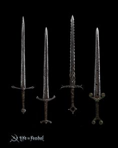 Concept art for the Life is Feudal MMO Bastard Sword, Swords And Daggers, Making Out, Concept Art, Artwork, Weapons, Fantasy, Handmade, Conceptual Art