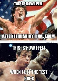 And so finals week begins.