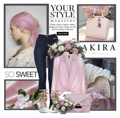 """""""ShopAkira5"""" by sneky ❤ liked on Polyvore featuring Pussycat, Akira, Allstate Floral, Manon Baptiste and Nila Anthony"""