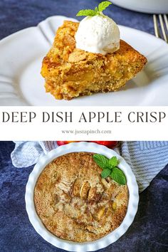 Filled with apple cinnamon flavor, we enjoyed this warm with a scoop of vanilla ice cream. Yum! Serve this in the fall for an easy dessert or add this to your holiday dessert menu. Fall Dessert Recipes, Desserts Menu, Holiday Desserts, Deep Dish, Apple Crisp, Vanilla Ice Cream, Cinnamon Apples, Allrecipes, Apple Pie