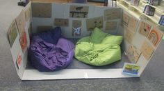 This cozy reading cave can be found at the North County Regional Library!