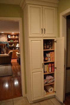 Updating A Pine Wardrobe Pantry Cupboard Kitchen Pantries And - Kitchen freestanding cabinet