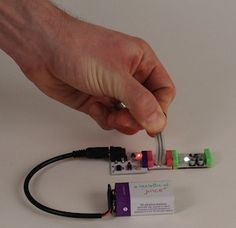 littleBits is an opensource library of electronic modules that snap together with tiny magnets for prototyping and play.