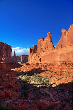 Park Avenue - Arches National Park. I've always been impressed on how blue the sky is out west.