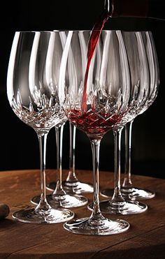 Waterford Lismore Essence Goblet, Red Wine Glasses from Crystal Classics- Love these glasses