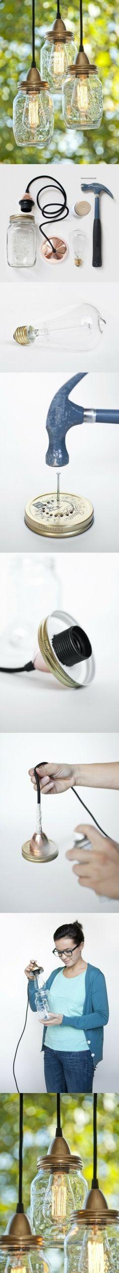 D.I.Y. maak je eigen lamp 100%stoer!