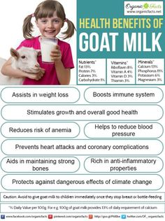 Some of the health benefits of goat milk include its ability to reduce inflammation, optimize digestion, improve bioavailability of nutrients, strengthen bones, boost heart health, increase immunity, increase your metabolism, prevent toxins from accumulating in the body, protect against weight loss, and benefit the overall environment.