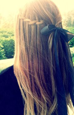 waterfall ribbon braid
