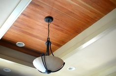 Give your ceiling bragging rights. Lyptus wood ceiling treatment.