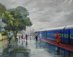 A ticket examiner captures the beauty of Indian Railways in these colourful paintings.  By Bijaya Biswal, Train Ticket Examiner in Nagpur division of the Indian Railways