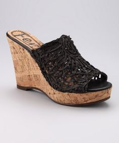 LOVE!!!!!  Take a look at this Black Metro 500 Wedge by Henry Ferrera on #zulily today!