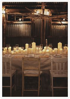 Inspirations, Rustic Candlelit Dinner: Modern and romantic Australian Wedding of Nathan and Toe Deco Table, A Table, Rustic Wedding, Our Wedding, Fall Wedding, Wedding Ceremony, Wedding Tables, Church Wedding, The Kinfolk Table