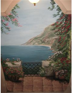 1000 images about trompe l 39 oeil on pinterest murals painted wall murals and garden mural - Trompe loeil hoofd bed ...