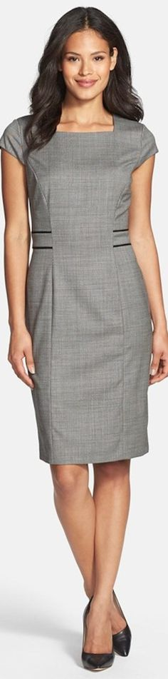 BOSS HUGO BOSS 'Dalusa' Stretch Wool Suiting Dress in Black Fantasy