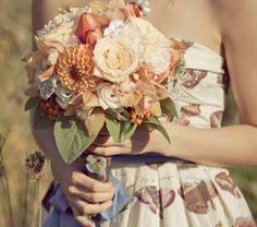 #dahlias #roses #herbs for the floral print bridesmaid dress