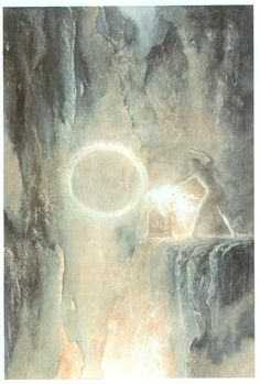 Sauron - by Alan Lee - http://img-fan.theonering.net/~rolozo/images/lee/sauron.jpg