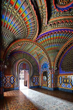 "The Peacock Room Castello di Sammezzano in Reggello, Tuscany, Italy. Add Tuscany to the ""places to visit in Italy"" list Places To Travel, Places To See, Travel Destinations, Beautiful World, Beautiful Places, Beautiful Buildings, Colourful Buildings, Beautiful Beautiful, Wonderful Places"