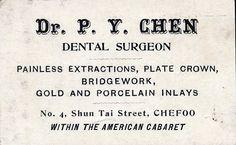 Vintage business card...dental surgeon