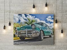Old vintage car canvas wall decor canvas ready to hang on the wall picture beautiful home decor wall art valentines day gift canvas picture Ready to hang on the wall Each canvas is hand made with lots of love and care to deliver best quality possible :) Canvas Wall Decor, Home Decor Wall Art, Valentine Day Gifts, Valentines, Old Vintage Cars, Canvas Home, Canvas Pictures, Picture Wall, Beautiful Homes