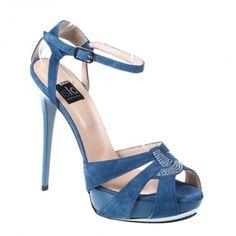 8c7a425a27 Sandale dama cu platforma turquoise Isabella Lorusso - Women sandal with  platform