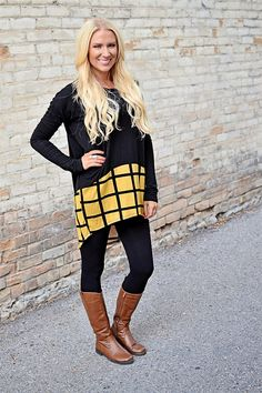 Plaid Bottom Tunic Dress! 3 Colors! Only $22.99 (Orig. $48) For a limited time!