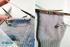 Knitting Gloves - DIY Guide for Mittens & Finger Gloves - Stulpen - Stricken Knit Mittens, Knitted Gloves, Knitting Socks, Knitting Needles, Free Knitting, Baby Knitting, Knitting Patterns, Mittens Pattern, How To Start Knitting