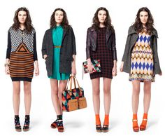 Dear Gorman, can your textile designers come paint my wall like the dress on the left?  K, thanks.