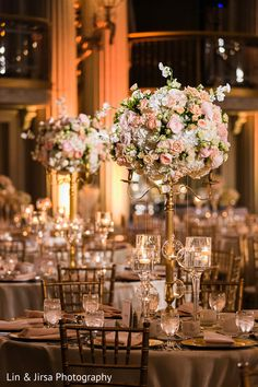 Indian wedding reception floral and decor                                                                                                                                                                                 More