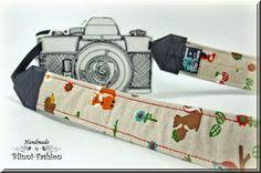 Kameragurt  Wald  Kameraband natur bunt von BlinniFashion auf Etsy, €29.90