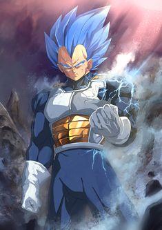 Prince Vegeta # Dragon Ball world # Dragon Ball Gt, Dragon Ball Image, Blue Dragon, Fan Art, Goku Y Vegeta, Manga Dragon, Animes Wallpapers, Anime Comics, Character Art