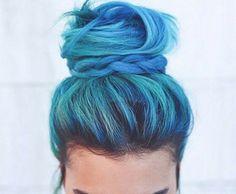 Hair Color Ideas 2018 : Mermaid hair Discovred by : madison Coloured Hair, Dye My Hair, Mermaid Hair, Cool Hair Color, Grunge Hair, Hair Dos, Pretty Hairstyles, Wedding Hairstyles, Hair Inspiration