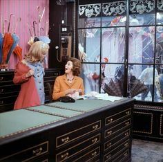 A scene from Les Parapluies de Cherbourg (The Umbrellas of Cherbourg) with Catherine Deneuve