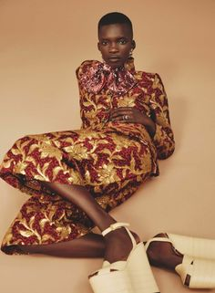 Achok Majak Wears 'Rich Rewards' By David Roemer For Marie Claire UK September 2016 — Anne of Carversville http://www.anneofcarversville.com/style-photos/2016/8/4/achok-majak-wears-rich-rewards-by-david-roemer-for-marie-claire-uk-september-2016