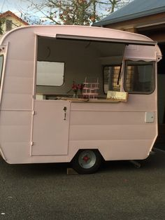 Meet Dolly our latest Caravan in the Retro Events Fleet she is available for Fairy Parties, Weddings, promotional events Caravan Parts, Retro Caravan, Promotional Events, Vintage Party, Pink Parties, Auckland, Recreational Vehicles, Fairy, Meet