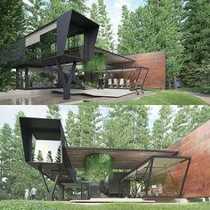 Container house - Architecture visualization by Titanviz Studio #France  www.facebook.com/amazingarchitecture✔️ #amazingarchitecture #architect  #architecture#contemporary #arquitetura #facade #sketchup #sketchup3d #sketchup2016 #3ds #3dworld #vray #vrayrender #design #exterior #exteriordesign  #vrayforsketchup #concrete #structure #instarender  #archiviz #archviz #3dwork #rendering #render_contest #renderbox