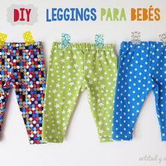 DIY: Cómo hacer leggings para bebés / Actitud y alegría.