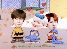 Exo Cartoon, Baby Cartoon, Exo Ot12, Chanbaek, Kyungsoo, Chanyeol, Exo Kokobop, Exo Lockscreen, Exo Memes
