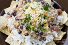 Crockpot Mexican Haystacks - all her recipes are amazing!!