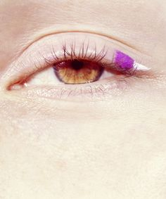 a touch of color on the eyes - color cateye
