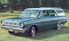 The family car -   1965 Rambler American Station Wagon  Ours was pink, my moms all time favorite car. She still talks about that car..  :D