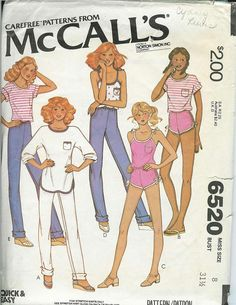 McCALLS 6520 70s Vintage Sewing Pattern Womens by PatternsNew2U, $8.00