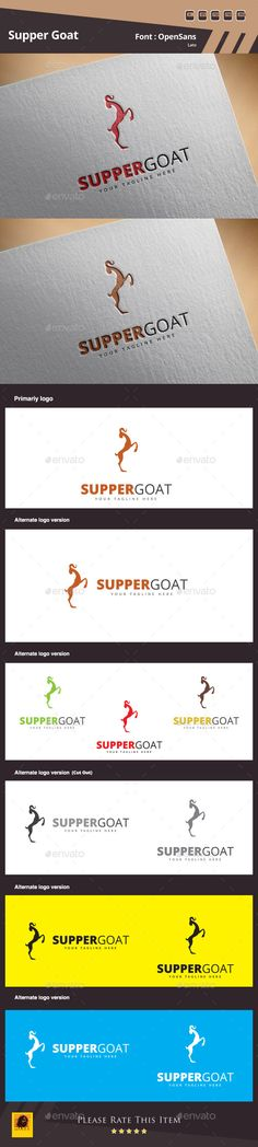 Supper Goat Logo Template — Photoshop PSD #clean #logo • Available here → https://graphicriver.net/item/supper-goat-logo-template/10892899?ref=pxcr